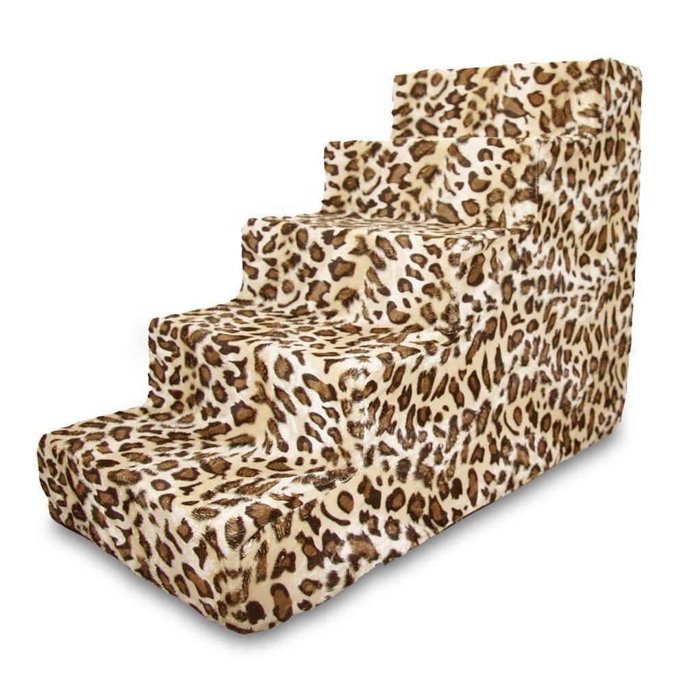 Best Pet Supplies ST225T-L Foam Pet Stairs/Steps, 5-Step, Animal Print by Best Pet Supplies, Inc.
