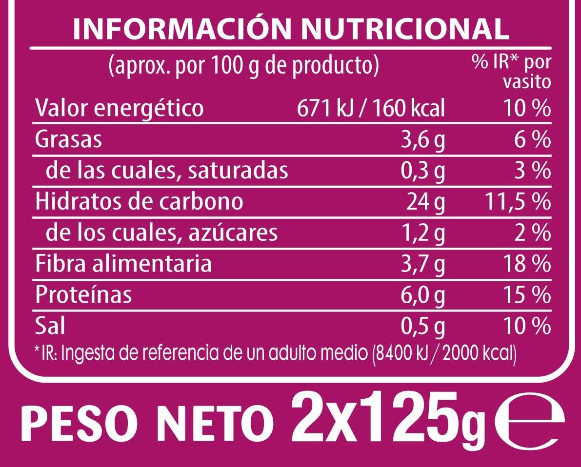 Brillante Quínoa Cereal Saludable, Blanco y Rojo, 2 x 125g