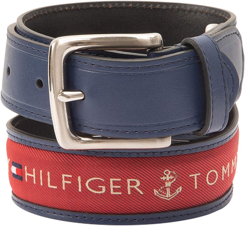 Tommy Hilfiger Mens Inlay Belt-Ribbon Fabric Design