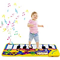 Alfombra de Piano, Alfombra de Teclado Táctil Musical Touch Juego Musical para Bebé (Amarillo)