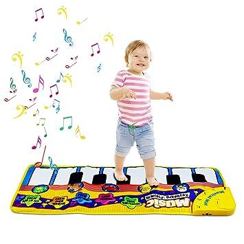 Alfombra de Piano, Alfombra de Teclado Táctil Musical Touch Juego Musical para Bebé (Amarillo): Amazon.es: Juguetes y juegos