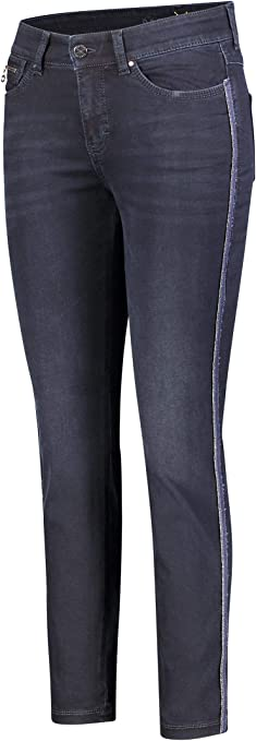 MAC Jeans Damen Hose Straight Dream blau-dunkel