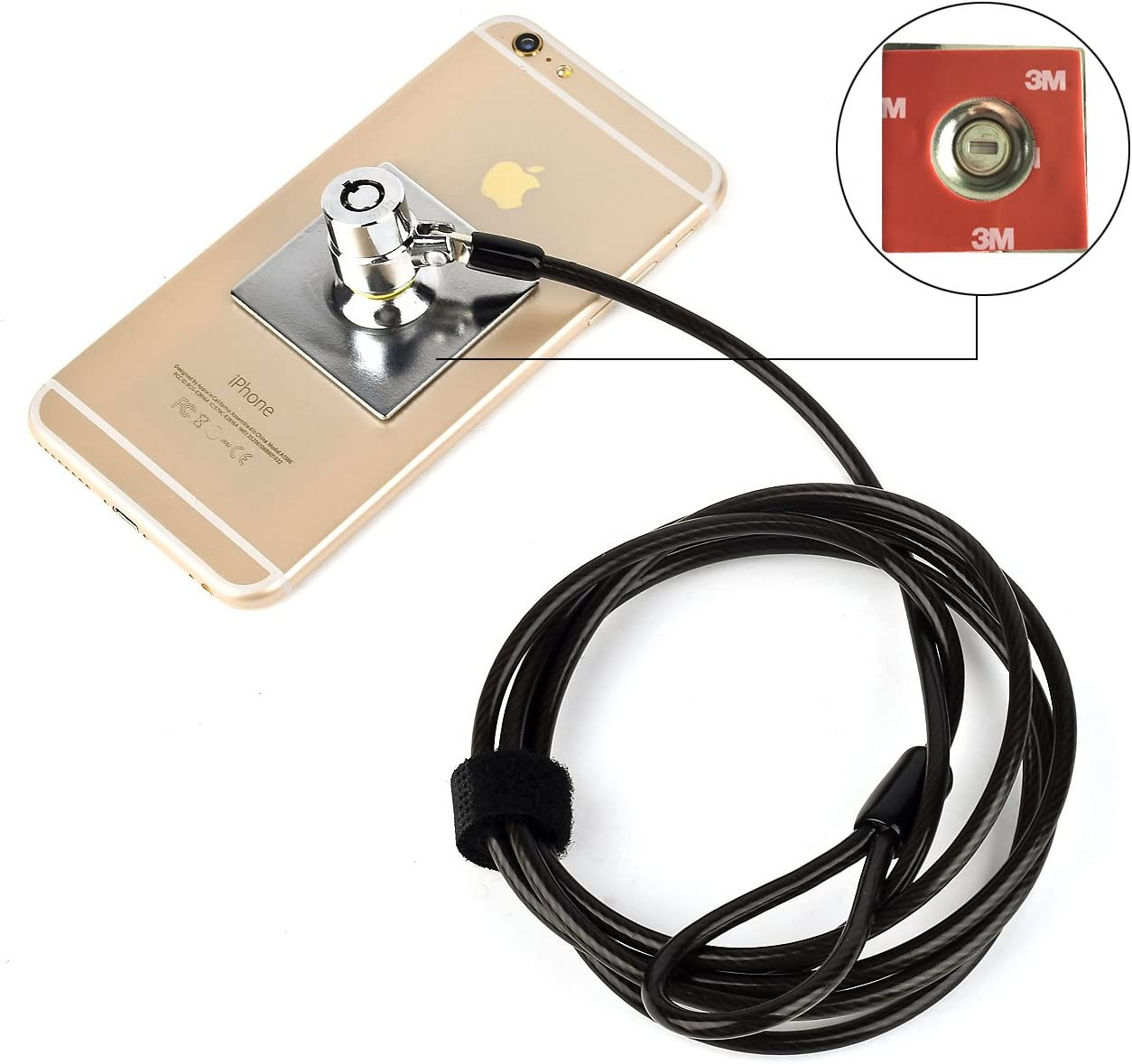 Laptop Lock Notebook Lock Computer Lock Security Cable Lock Keyed Cable Lock for Laptops Desktop Notebook /& Other Device Security Universal Anti-Theft Wire Retractable Lock,