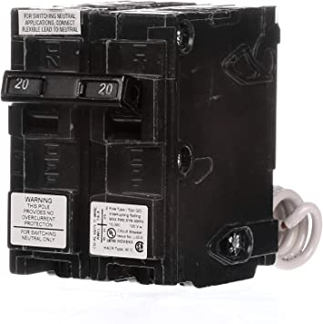 Siemens BG220 BREAKER 2 wire 20A 120V BG SWITCH NEUTRAL