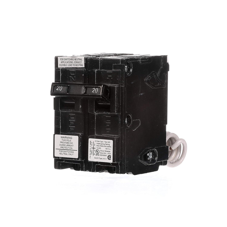 Siemens QG220 20-Amp 2-Wire BG Switch Neutral Breaker Siemens -HI