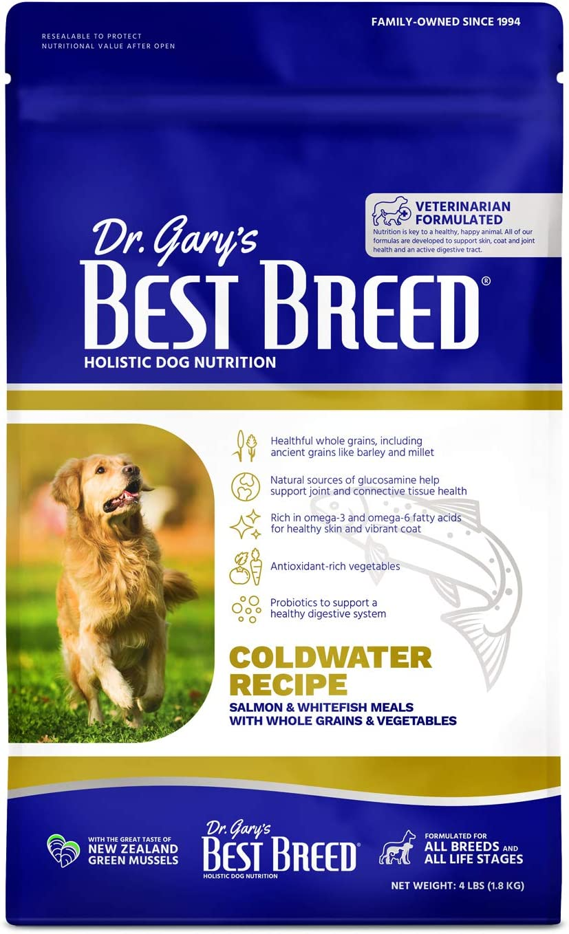 Best Breed Salmon w/ Fruits & Vegetables Made in USA [Natural Dry Dog Food For All Breeds and Sizes]
