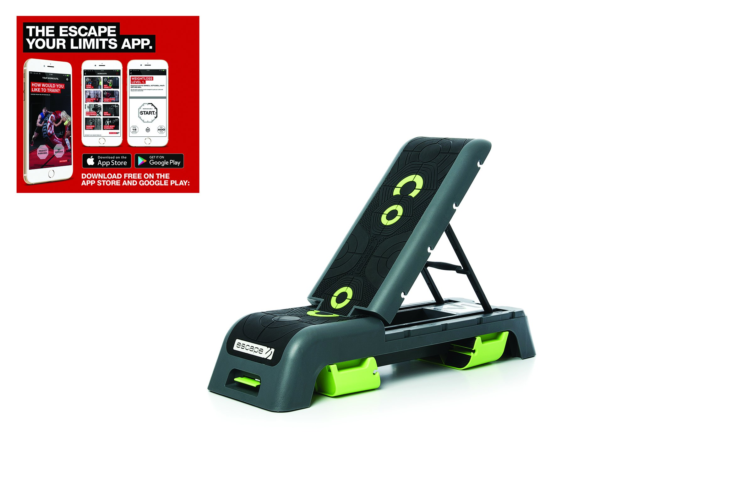 Escape Fitness Deck Workout Bench And Fitness Station