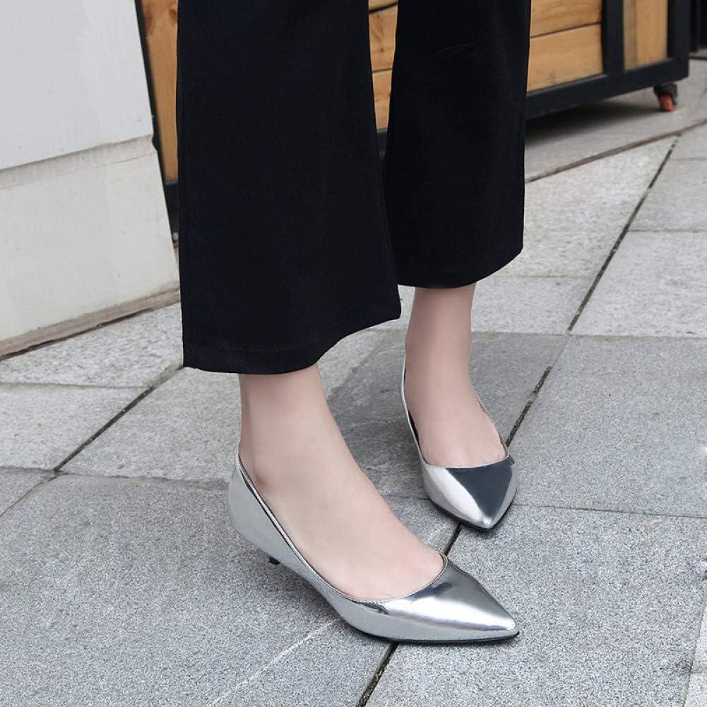 SHOFLKQCS Pump High Heel Echt lederen pumps vrouwen Low Heels witte kleur vlakke werkschoenen kantoor jurk schoenen 1
