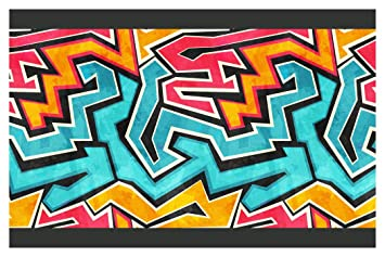 Neu Rasch 237900 Schwarz Graffiti Tapete Bordüre