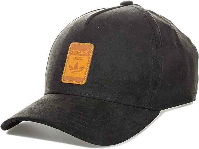 adidas Originals Gorra de Gamuza para Hombre en Negro con Visera ...
