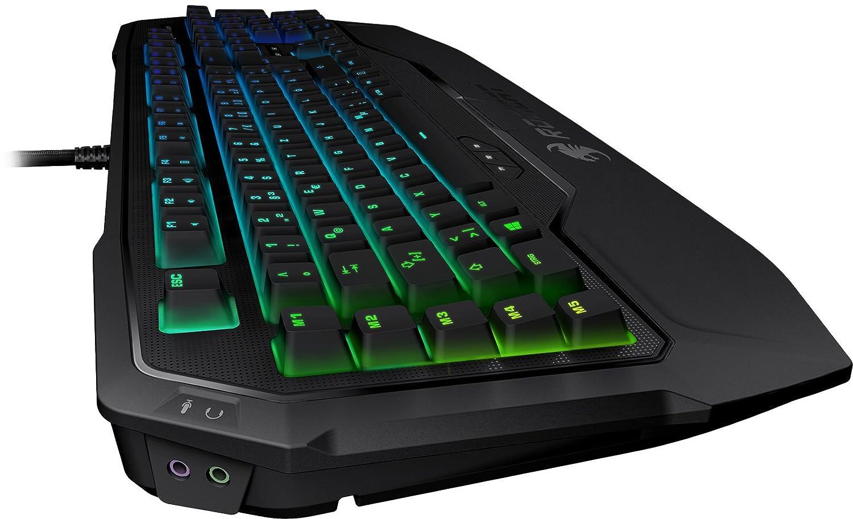 DE-Layout, Per-key, RGB Multicolor Tastenbeleuchtung, MX Key Switch RGB braun ROCCAT Ryos MK FX RGB Mechanische Gaming Tastatur