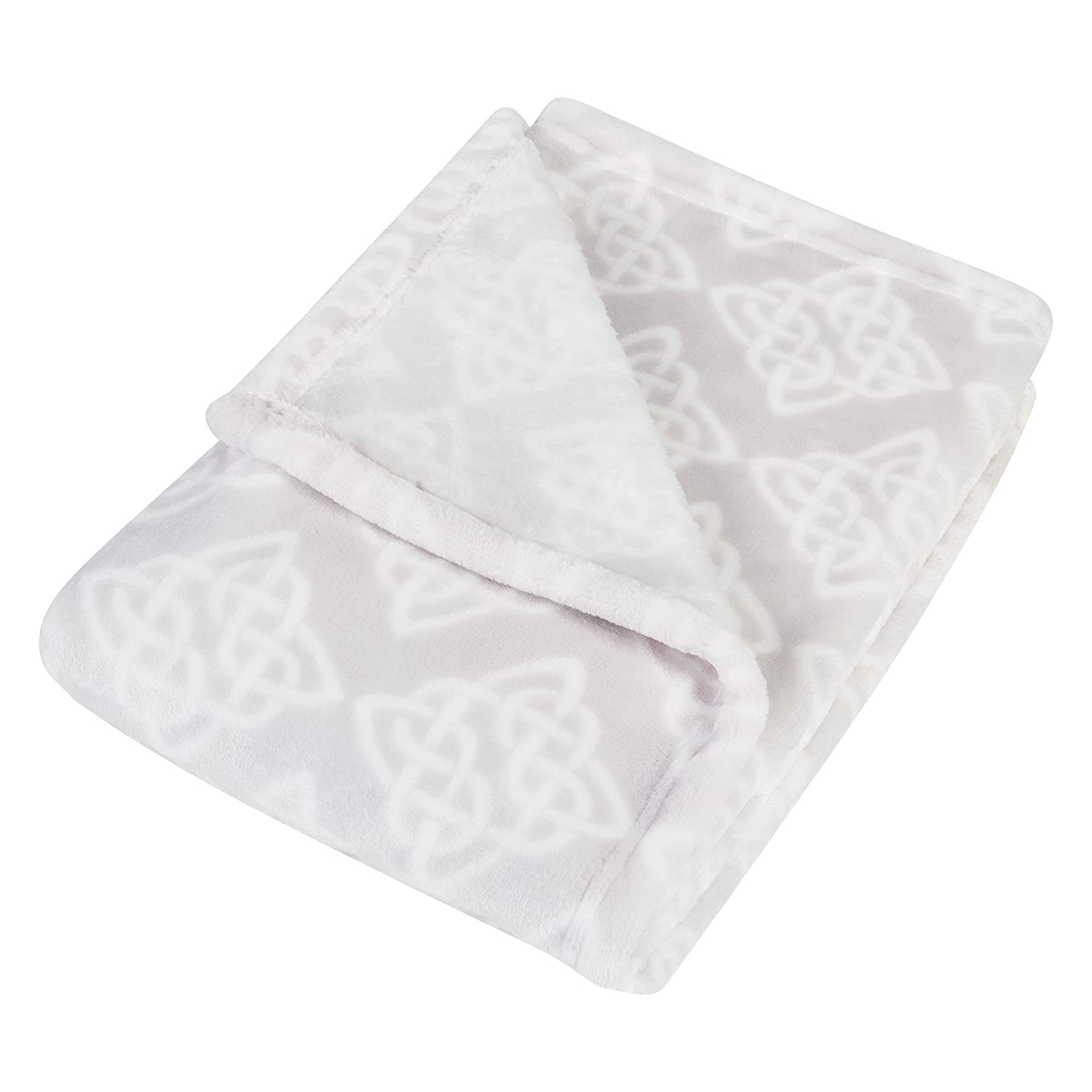 Trend Lab Plush Baby Blanket, Gray Celtic Knot