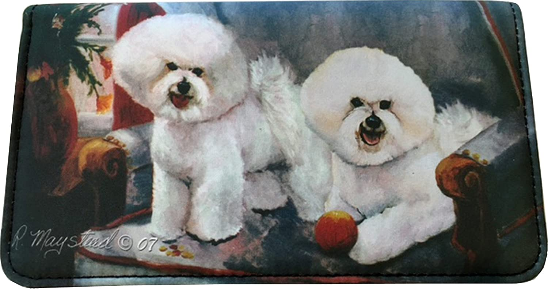 Bichon Frise Dog Wallet Designed by Ruth Maystead 4 1//4 x 7 1//4