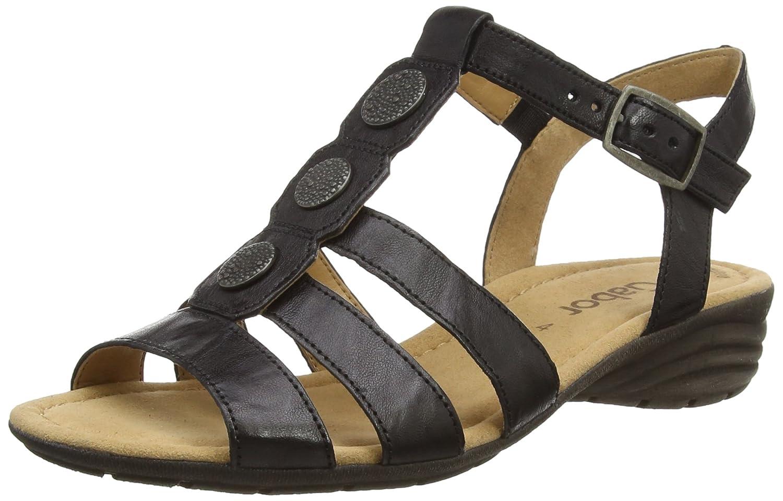 Black sandals ebay uk - Image Is Loading 6 5 Uk Black Black Leather Gabor Eartha