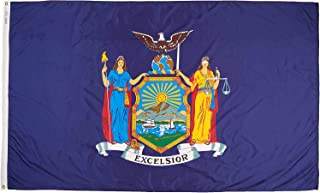product image for Annin Flagmakers Model 143880 New York Flag Nylon SolarGuard NYL-Glo, 5x8 ft, 100% Made in USA to Official State Design Specifications