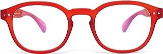 FEEGOO Occhiali da Lettura Readers Uomo/Donna Unisex Graduati + 2.5 Diottrie Modello 2 Ovale Montatura Super Leggera Sottile Colore Tortoise