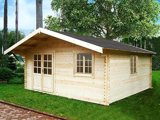 Prikker Hamburg - Caseta de jardín, 500 x 500 cm, grosor de 44 mm, madera: Amazon.es: Jardín