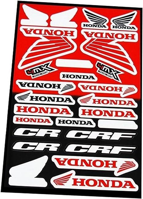 Onogal 6335 Aufkleber Aus Vinyl Für Motorrad Honda Tuning Tuning Restaure 24 Stück Küche Haushalt