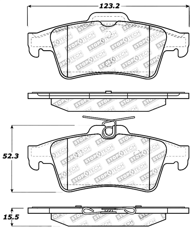 StopTech 309.10950 Street Performance Rear Brake Pad