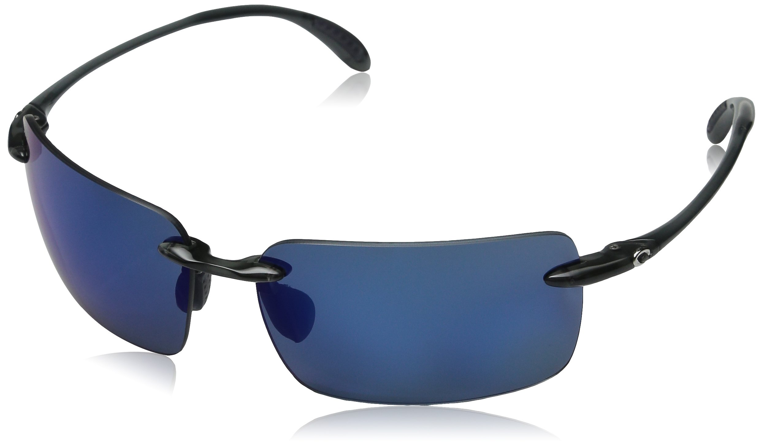 Costa del Mar Unisex-Adult Cayan AY 50 OBMP Polarized Iridium Rimless Sunglasses, Thunder Gray, 65 mm by Costa Del Mar