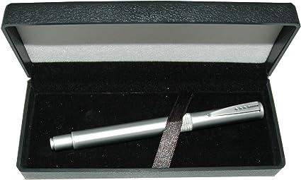Alta tecnología bolígrafo de punta redonda de metal con caja de regalo: Amazon.es: Oficina y papelería