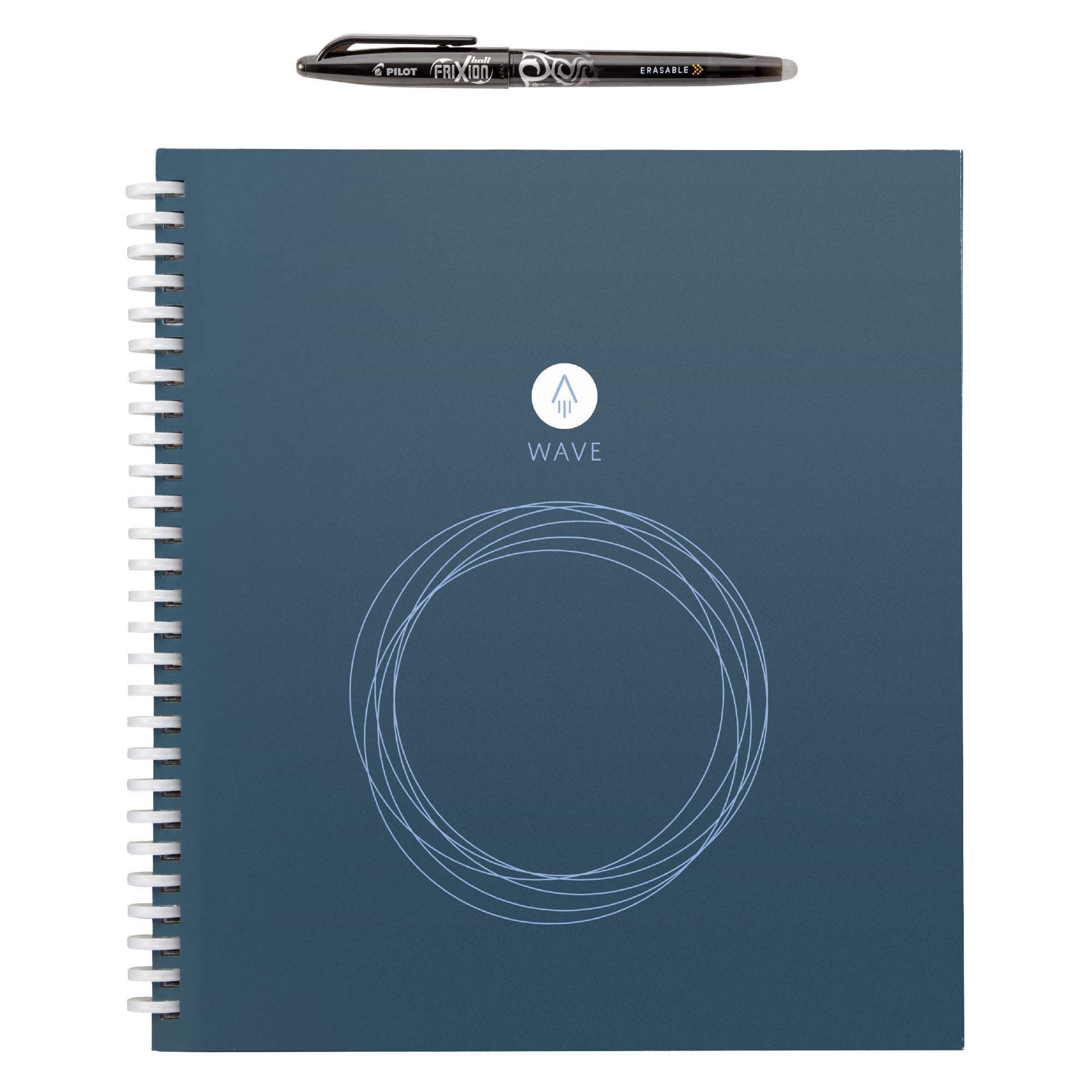 Rocketbook Wave Smart Notebook - Dotted Grid Eco-Friendly Notebook with 1 Pilot Frixion Pen Included - Standard Size (8.5'' x 9.5'') by Rocketbook