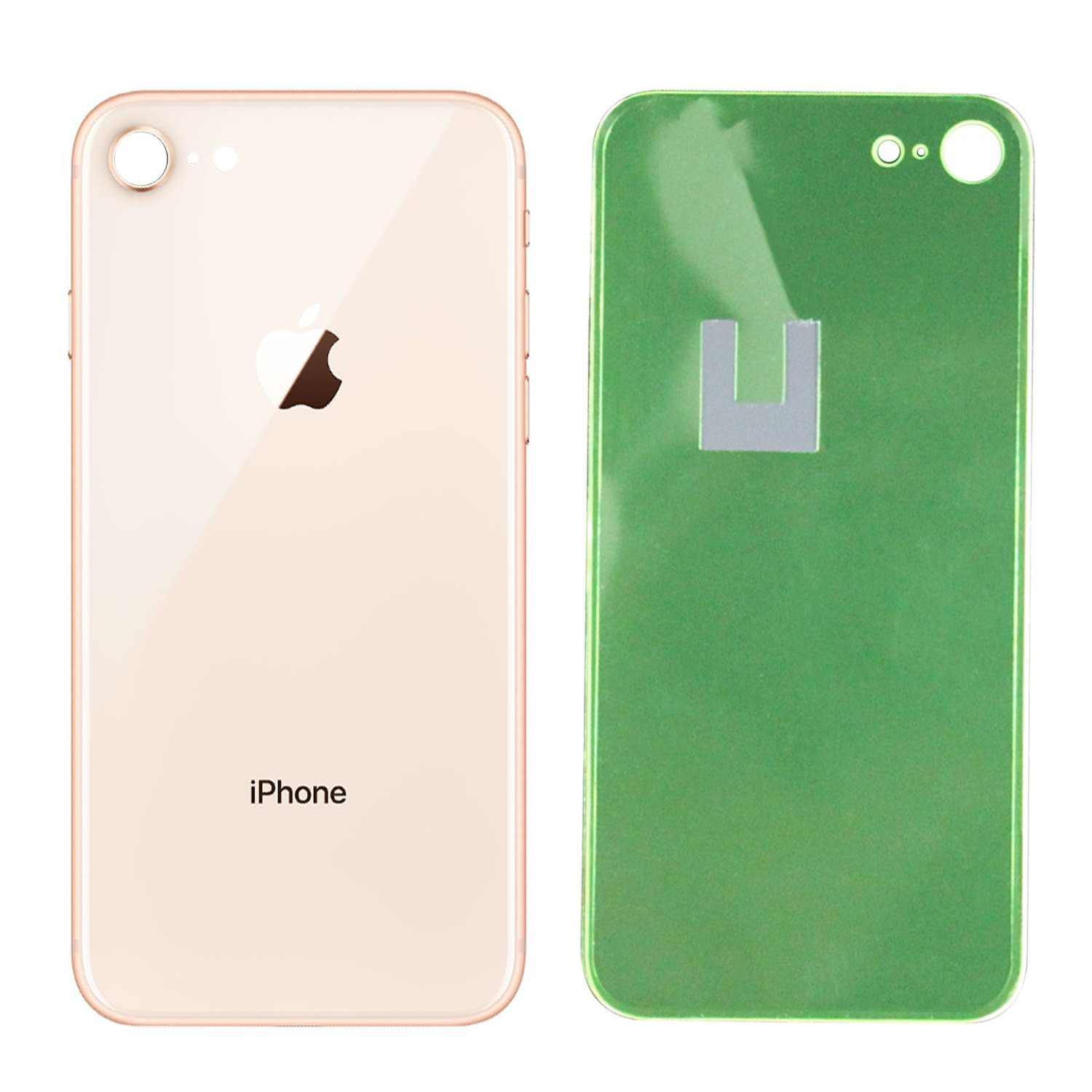 for iPhone 8 Back Glass Replacement OEM Quality Back Glass w//Adhesive /& Removal Tool Gold