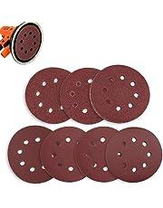 Sanding Discs 70 Pcs 8 Holes 5 Inch Sandpaper Circular Dustless Hook and Loop 60/80/ 120/180/ 240/320/ 400 Grit Ninonly Assortment for Random Orbital Sander