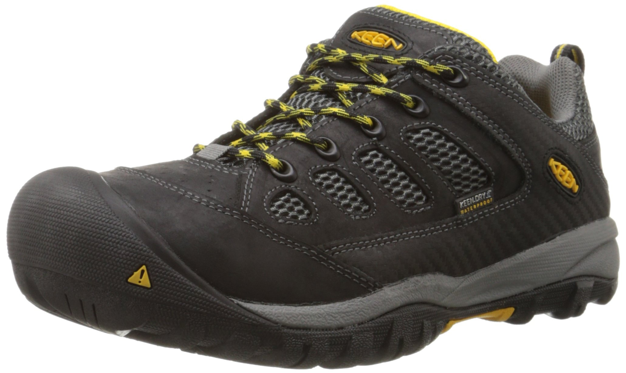 KEEN Utility Men's Tucson Low M Work Boot, Black/Gargoyle, 9.5 2E US