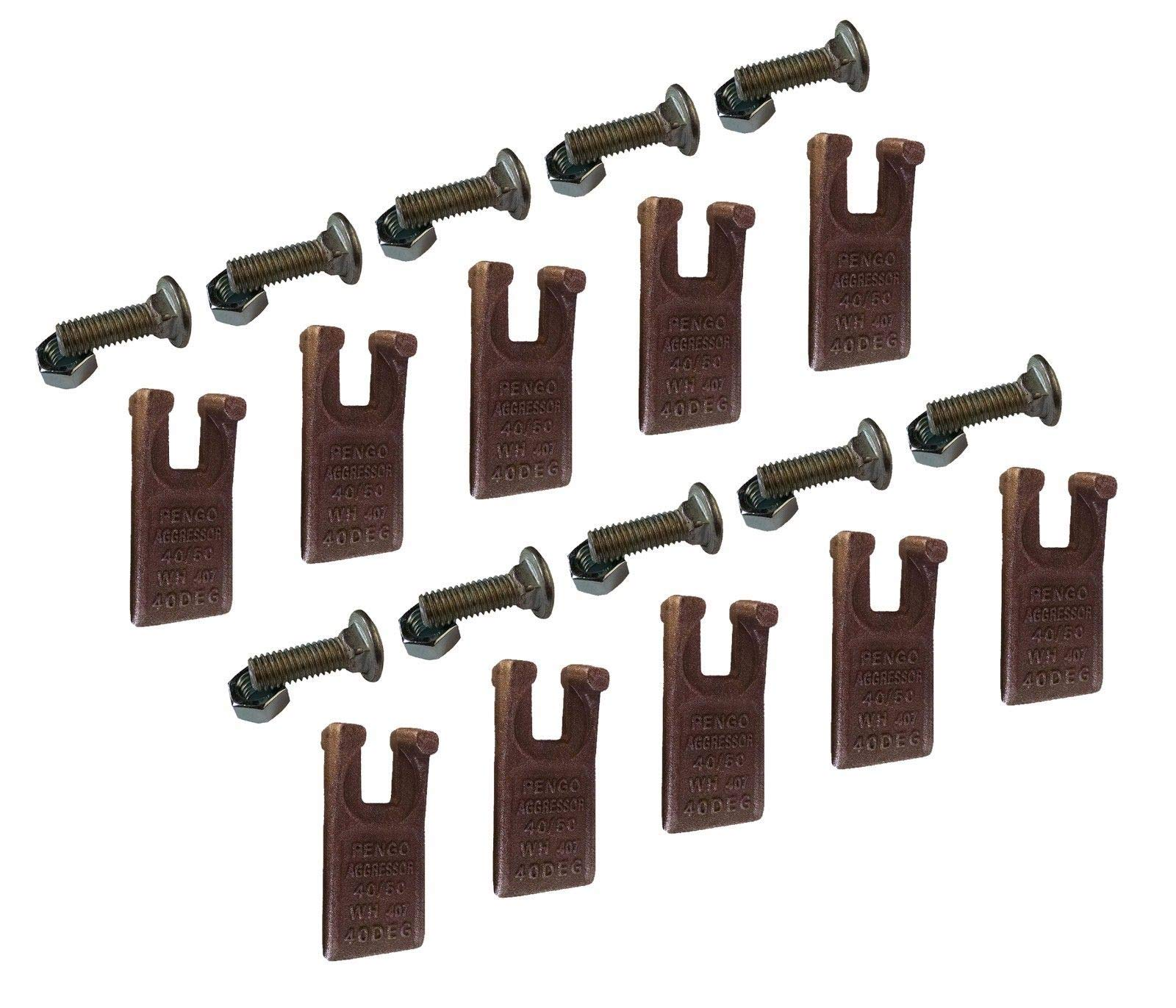 Pengo Auger Tooth - 134501 40/50 Size Tooth for Pengo Aggressor Auger - Set-10 by Digger Supply