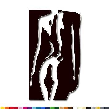 LAVICOM Wandtattoo ~ Erotik ~ Schlafzimmer Dekoration Akt Wandsticker 51cm  x 90cm beige