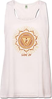 product image for Soul Flower Women's Shine On Recycled Racerback Tank Top - Solar Plexus Chakra Natural Organic Cotton Yoga Top