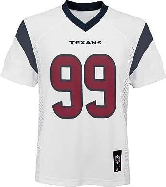 OuterStuff JJ Watt Houston Texans #99 White Youth Away Mid Tier Jersey