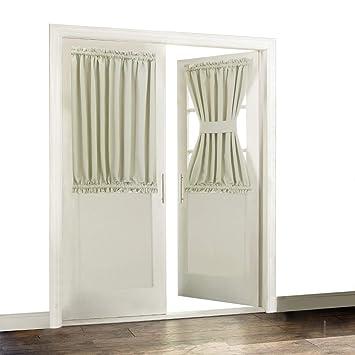 Amazoncom Aquazolax Blackout French Door Curtain Side Panels For