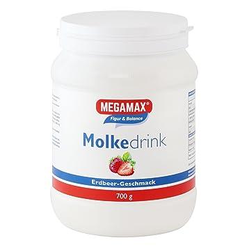 Megamax - Molke-Drink - Bebida con proteínas de suero de leche - Fresa - 700 g: Amazon.es: Deportes y aire libre