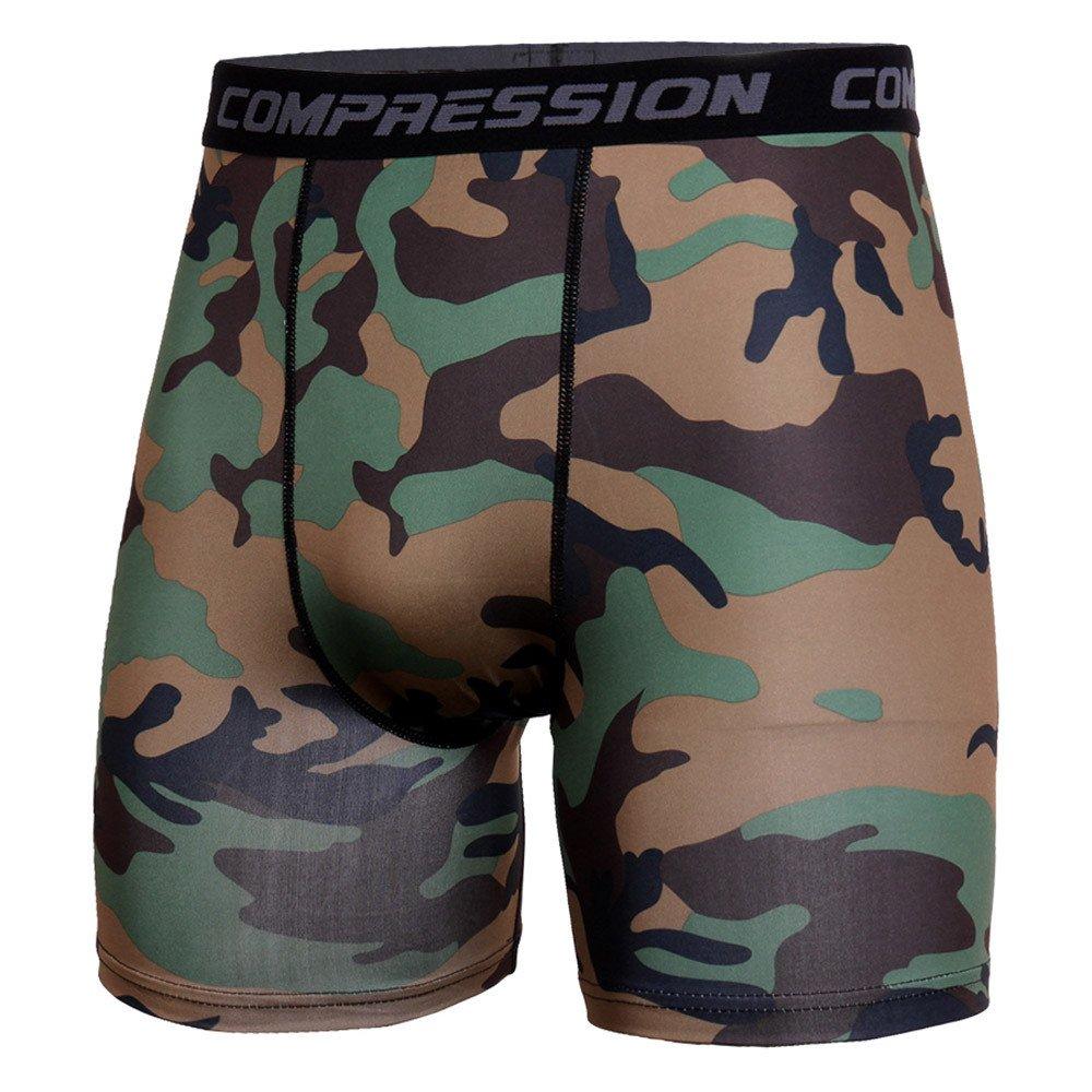 Sinzelimin Men's Camouflage Athletic Short Training Bodybuilding Summer Shorts Workout Fitness Gym Short Pants