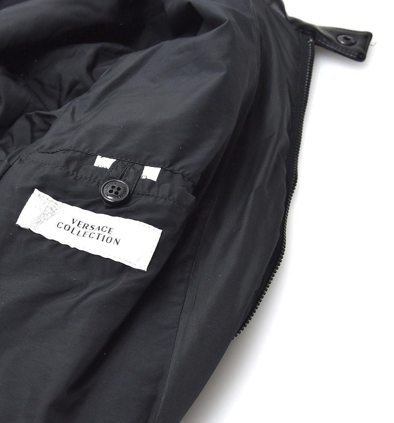 Versace Abrigo Negro Para Mujer Art. V500187 Blouson: Amazon.es: Ropa y accesorios