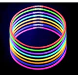 Lumistick Premium 22 Inch Glow Stick Necklaces with Connectors | Kid Safe Non-toxic Glowstick Necklaces Party Pack | Available in Bulk and Color Varieties | Lasts 12 hours (Color Assortment, 50)