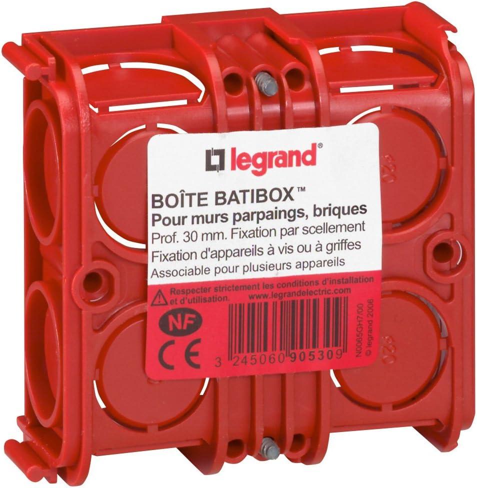 Legrand Batibox LEG90533 - Caja de empotrar cuadrada (combinable ...