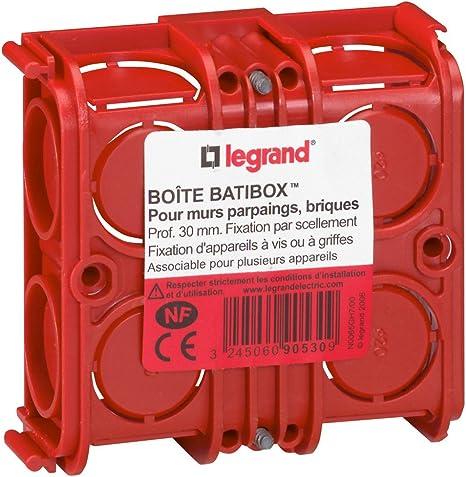 Legrand Batibox LEG90533 - Caja de empotrar cuadrada (combinable, para yeso, 30 mm de profundidad): Amazon.es: Bricolaje y herramientas