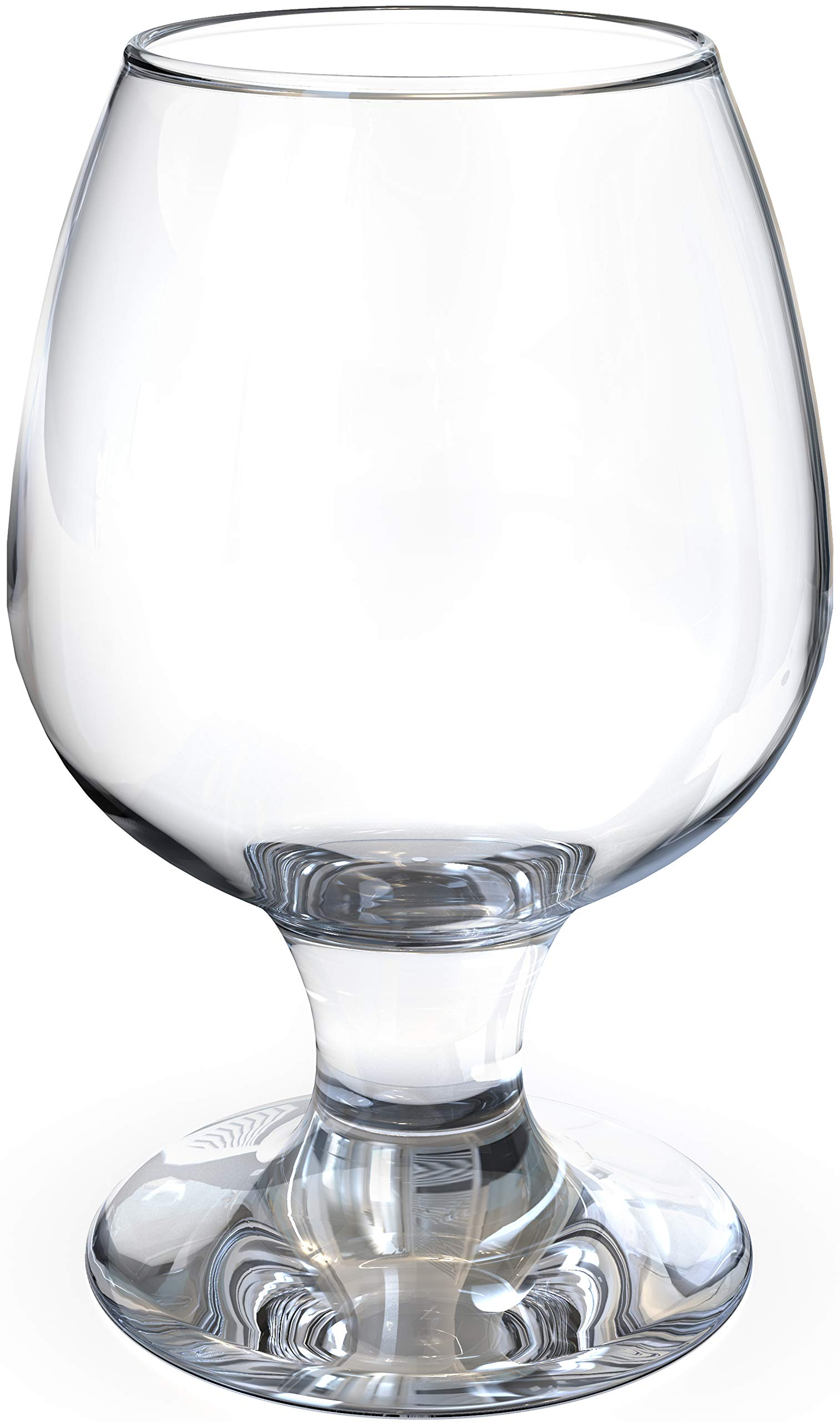 Crystal Snifter Glasses Set of 4 for Cognac Whiskey - New Style Old Fashioned Drink Glasses - Glassware set - Scotch Brandy or Bourbon Tumblers, 8.5 oz by NICELY HOME