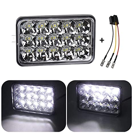 Yorking 4x6 Inch Led Headlights Rectangular Replacement Headlamp H4651 H4652 H4656 H6545 For Probe Oldsmobile Cutlass