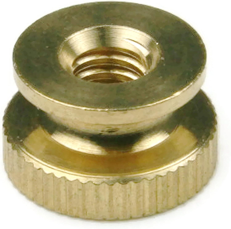Knurled Thumb Nuts Brass Circular Knurl Nuts #10-24 QTY 100