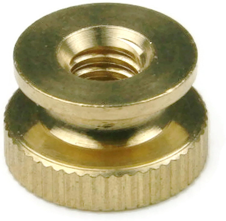 Qty-25 Knurled Thumb Nut Brass 1//2 Dia x 21//64 Thick 10//32