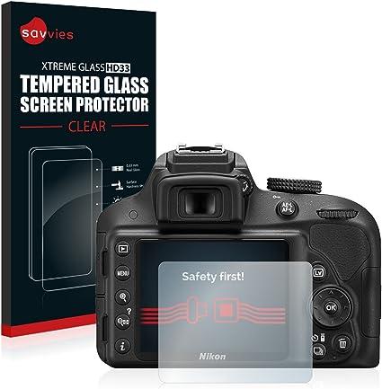 savvies Cristal Templado Compatible con Nikon D3300 Protector ...