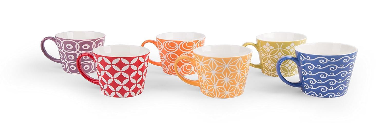 Porcellana Excelsa Etnika Set 6 Tazze Jumbo Multicolore unit/à