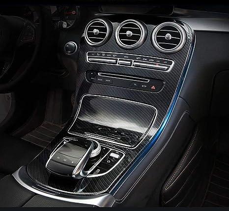 ABS Carbon Fiber Central Console Panel Cover Trim For Mercedes Benz C class GLC