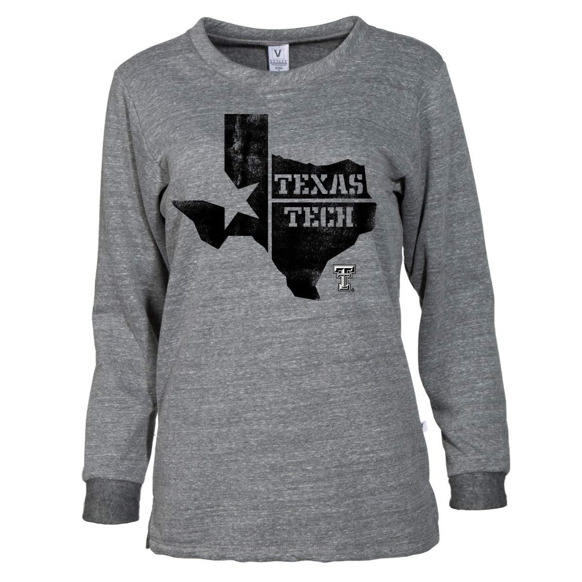 d9afb8ed Official NCAA Texas Tech University Red Raiders TTU Masked Raider WRECK EM!  V-Neck Baseball Sweatshirt