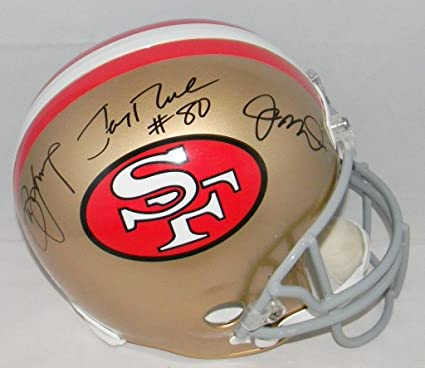 Joe Montana Steve Young Jerry Rice Signed San Francisco 49ers Full Size  Helmet - Autographed NFL f39391cdd