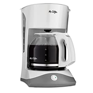 Mr. Coffee 12-Cup Manual Coffee Maker, White